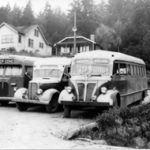 0819 - DC Stage buses on DC Road c1946