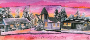 5014 - Historic Churches of Deep Cove painting